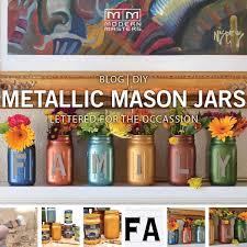 thanksgiving mantel decorating ideas thanksgiving diy lettered metallic mason jars modern masters