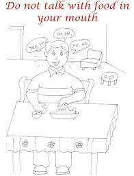 tremendous good manners coloring pages manners matter what does