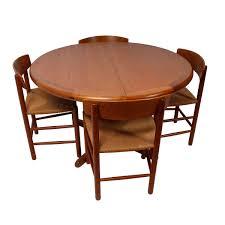 round teak dining table modern mobler