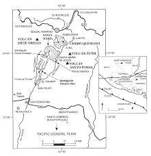 map of santa volcanic risk map for santa guatemala