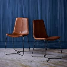 Office Dining Furniture by Slope Dining Chair Individual Leather Camel Leather Dining