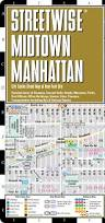 New York Bus Map by Streetwise Midtown Manhattan Map Laminated City Street Map Of