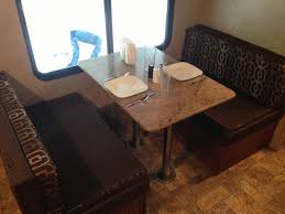 Rv Dinette Booth Bed Dinette Area That Also Converts Into A Bed Valet Rv Rental Llc