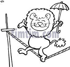free drawing of circus lion bw from the category movies u0026 magic