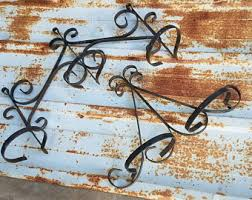 Wrought Iron Wall Planters by Metal Wall Planter Etsy