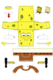 8 best images of spongebob 3d cut out printable paper crafts