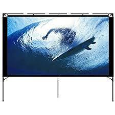 projection screens amazon com amazon com outdoor projector screen foldable portable outdoor