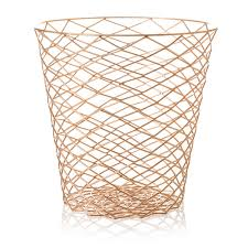 on trend wire bin with a repeat geometric diamond shape perfect