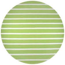 Lime Green Outdoor Rug Striped Round 7 U0027 And Larger Outdoor Rugs Rugs The Home Depot