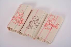 madeheart u003e designer striped handmade kitchen towel made of half