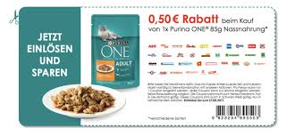 rossmann angebot coupon purina one nassfutter 85 g beutel