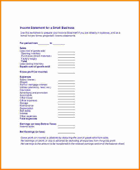 8 small business income statement template sql print statement