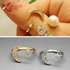 fashion rings aliexpress images 2014 new fashion stylish punk designer golden silver alloy moon jpg