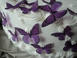 Purple Butterfly Decorations 24 Purple Monarch Butterflies 100 Edible Pre Cut Decorations
