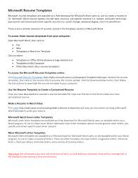 Free Resumes Templates For Microsoft Word Free Professional Resume Templates Microsoft Word Thebridgesummit Co