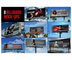 sky billboard mockups realistic billboard templates outdoor