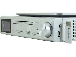 Kitchen Clock Radio Under Cabinet Eliteline Ur2195si Under Cabinet Bluetooth Cd Player Fm Dab