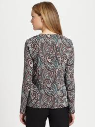 paisley blouse lyst lavia18 paisley blouse