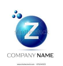 z letter splash logo green dots stock illustration 676715104