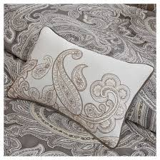 Black And White Paisley Comforter Dierdre Paisley Cotton Comforter Set 5 Piece Target