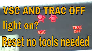 trac off and check engine light toyota vsc and trac off light on scion toyta lexus youtube
