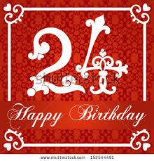 voitikova s happy birthday card with number set on