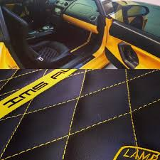 lamborghini custom interior lamborghini gallardo giallo yellow and black interior floor mats