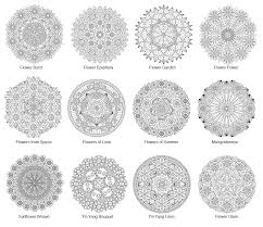 flower mandalas coloring book candy hippie coloring pages