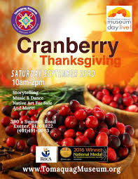 tomaquag an indigenous museum cranberry thanksgiving at the