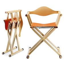 furniture nice folding chair design with high wood directors