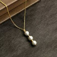 pearl necklace jewelry store images Mysta 3 grain design cotton pearl necklace kiska white jewelry jpg