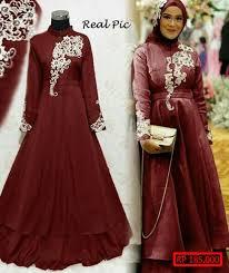 gaun muslim model gaun muslim brokat model baru