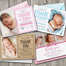 baby thank you cards birth announcement cards ebay