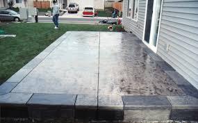 Backyard Stamped Concrete Patio Ideas Concrete Backyard Ideas Home Outdoor Decoration
