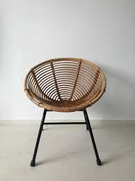 1960s Patio Furniture Dutch Rattan Lounge Chair Designed By Dirk Van Sliedrecht For Rohé