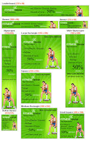flag banner template for fitness centers