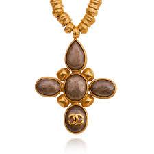 vintage cross necklace images Chanel pendant cross necklace seasons vintage jpg
