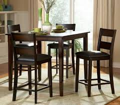 5 Piece Pub Table Set Kitchen Table Round Pub Table High Top Dining Table 5 Piece