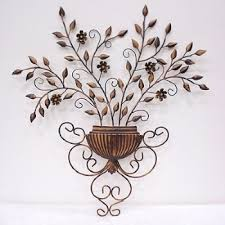 Metal Flower Wall Decor - wall decor floral wall decor wall decoration outdoor art