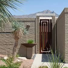 modern gate design with zen l andscape contemporary and indoor