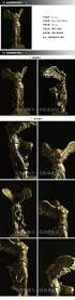classic winged victory copper statuette crafts brass fireplace