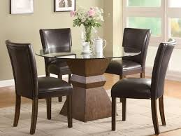 chocolate dining room table furniture country style round glass dining table and 4 chocolate