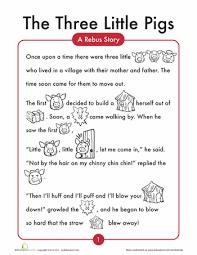 3 pigs worksheets kindergarten reading comprehension