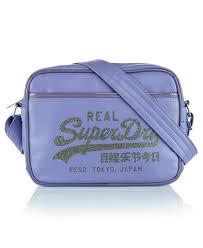 alumni bags womens glitter mini alumni bag in lilac steel superdry
