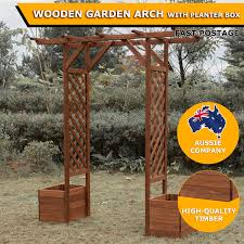 wedding arch ebay australia 197x170cm garden wedding arch with planter flower box outdoor