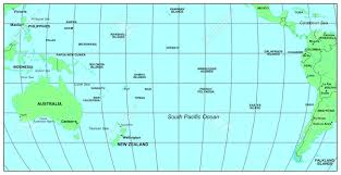 Ocean Maps Sea Maps Series South Pacific Ocean Stock Photo Picture And