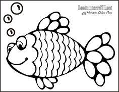 fish coloring pages kids paint crafts rainbow fish