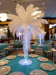 peacock centerpieces table decorations with feathers ostrich plume feathers white