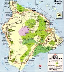 map of hawaii island big island map map of the big island of hawaii