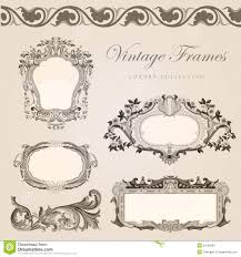 Wedding Template Invitation Retro Wedding Invitation Template Vintage Frames Stock Images